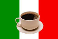Italian Flag and Caffe Cup
